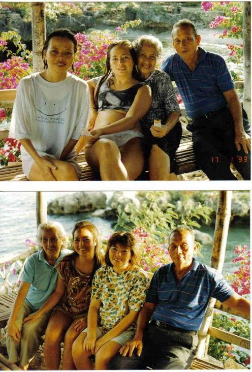 Duawon Beach, Mactan Island, Phil., With My Sister, Pa & Ma