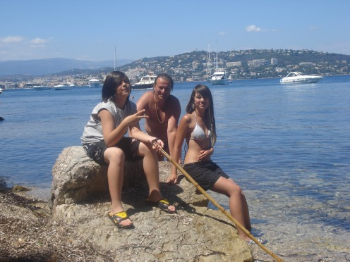 My Husband, Daughter & Son in The Island Near Cannes, France