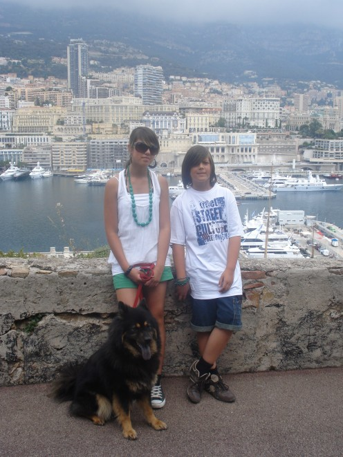 My Daughter, Son  & Benda in Monaco, France