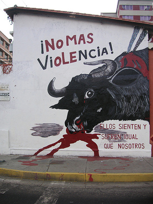 Bullfighting is now under attack, and whatever you think about bullfighting (and I don't enjoy it at all)....