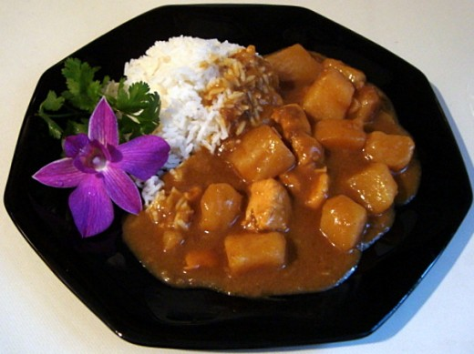 Serve the Curry Chicken over White Rice
