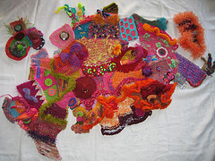 Beautiful Art, Freeform Knitting in Glorious Colors.