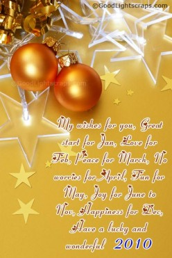 New Year Greetings, Scraps, Sms Messages, Quotes, Poems & Gifts