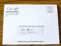 Front of postcard from Google. Author photo.