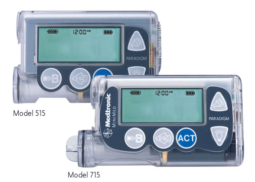 Two models of insulin pumps manufactured by Medtronics Minimed