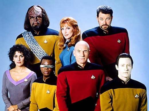 Star Trek: The Next Generation.  Other cast members included Will Wheaton as Wesley Crusher, Whoopie Goldberg as Guinan, and Denise Crosby as Tasha Yar.