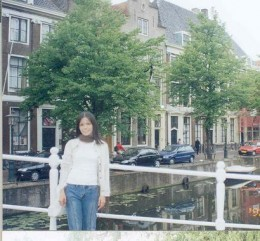 """me, at the back is a canal which run across the city and coffee shops too where you can order """"pot"""" and ask for menu"""