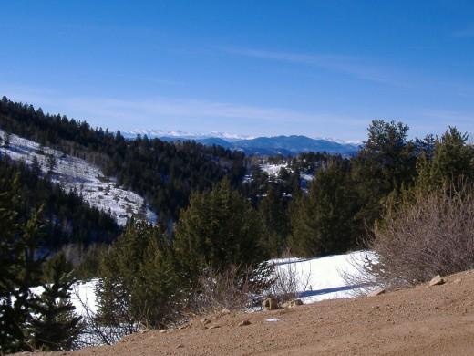 Behind Seven Falls above Colorado Springs