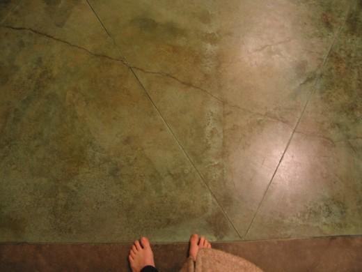 etching concrete floors images