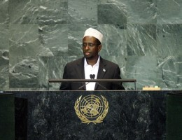 Leader of Somalia, president appointed February 2009 - Sheik Ahmed photo courtesy of maximsnews.com