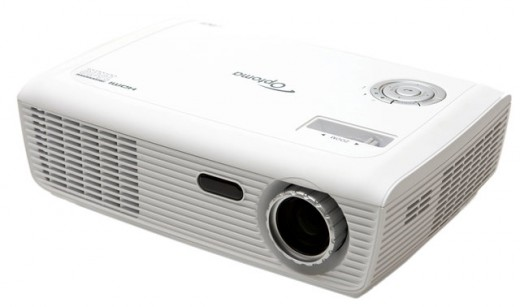 The Optoma HD66 projector