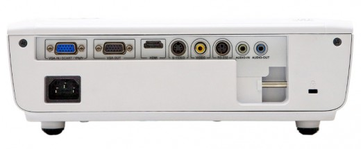 Rear view of the HD66