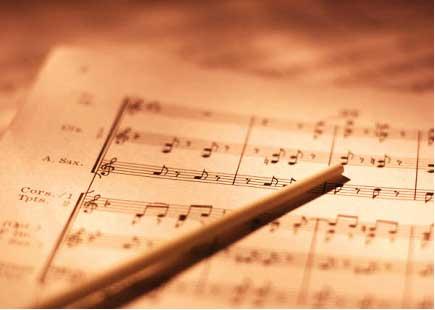 Printed Sheet Music With Baton