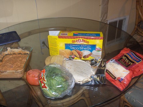 I used an Old El Paso Combo Kit