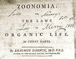 Title page of Zoonomia