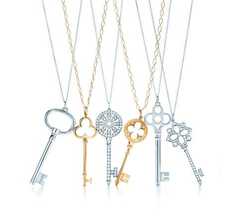 Tiffany Key Pendants | Photo credit:  Tiffany & Co.