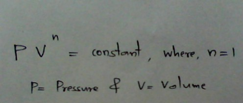Equation for isothermal compression