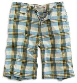 Mens Denim Shorts: plaid shorts