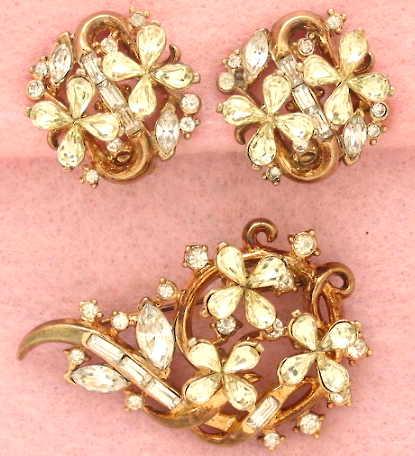 Trifari Costume Vintage Jewelry   Earrings   Brooch