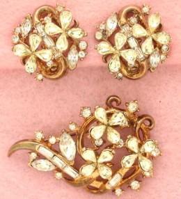 Trifari Costume Vintage Jewelry | Earrings | Brooch