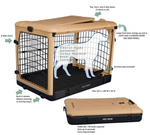 Pet Gear Plastic Collapsible Dog Kennel