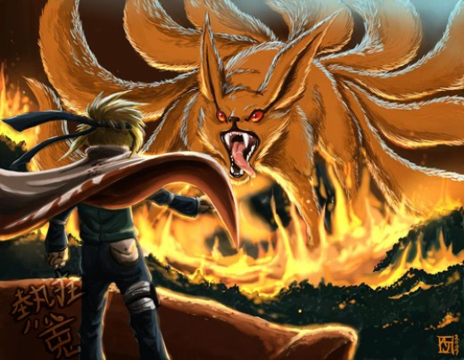 naruto shippuden nine tailed fox form