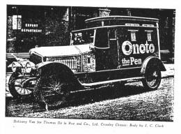 An Onoto delivery van - circa 1909