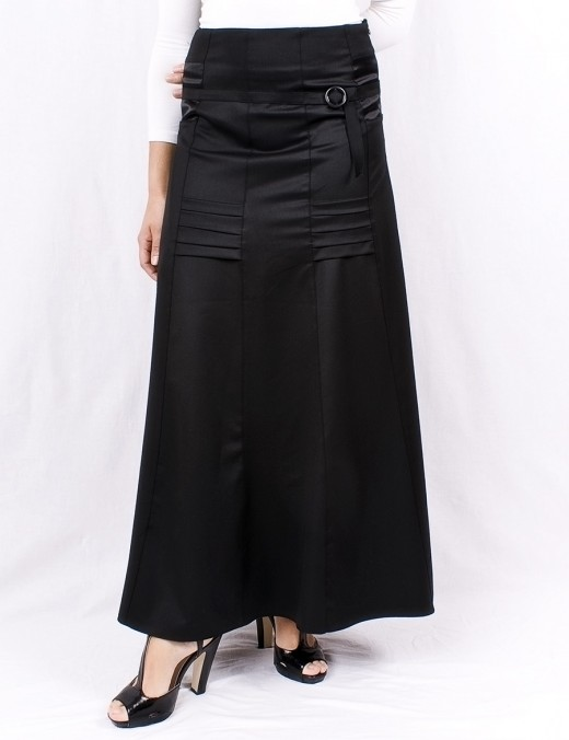 The A Line Skirt Is Your Friend. This skirt comes from http://www.losve.com/store/a-line-black-long-skirt-with-ribbon.html