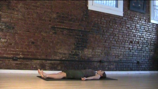 Savasana - Relax and breathe. Yes, it's important. This lets your body absorb all the benefits of the workout and stretches you've done. Give yourself at least one or two full minutes here. Five minutes is better. Try it - you'll like it!