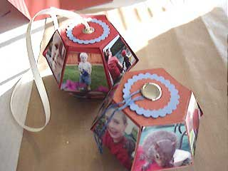 Photo Cubes Made from Sizzix Bigz 3D Pop-up Ball Die
