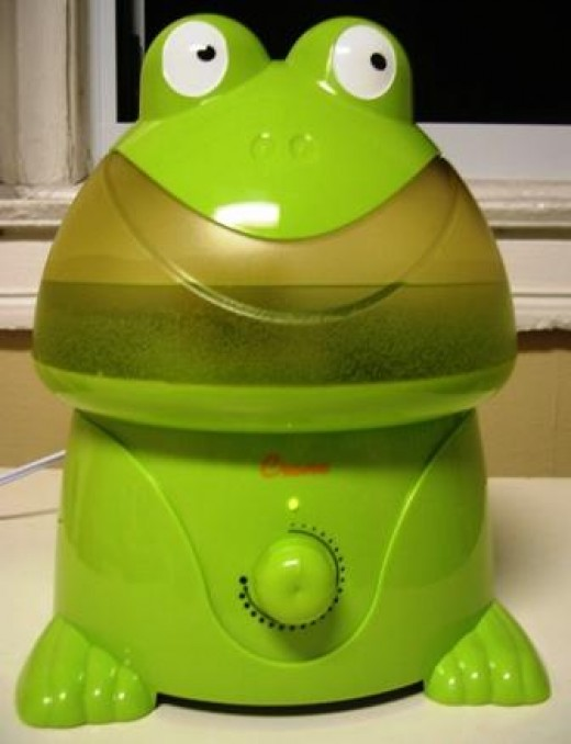 If you click through the penguin Cool Mist humidifier, you can see that there are many more styles available, such as the cute frog humidifier seen here.