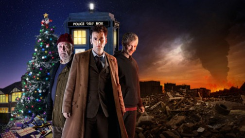 The poster for the doctor who end of time story.
