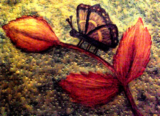 Mum's Butterfly: Butterfly art by Injete Chesoni from an art piece I did for my mother.