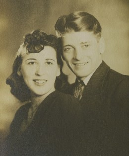 Mom & Dad on their wedding day, January 5, 1942