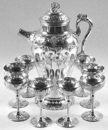 International Silver Vintage Martini Set