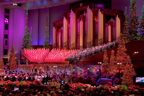 Mormon Tabernacle Choir Christmas Performance in the Salt Lake Conference Center.
