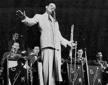 Glen Miller and his band at the Palladium