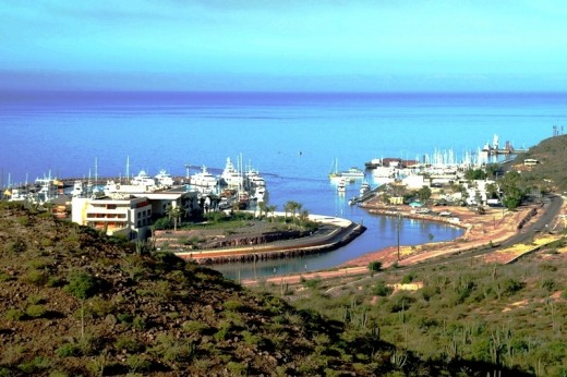 Marina Costa Baja - La Paz - Sea of Cortez - The hillsides overlooking the marina are now covered with a golf course and new homes and condos..... Very upscale!