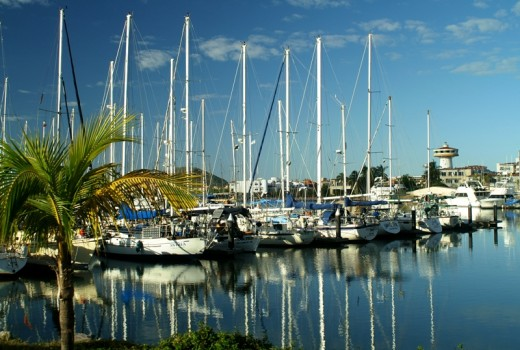 The docks at Marina Mazatlan - Restaurants, store, and a boat brokerage are some of the services offered. The marina recently added more LARGER slips, so there is now an over abundance of slips in the 50 foot plus range.