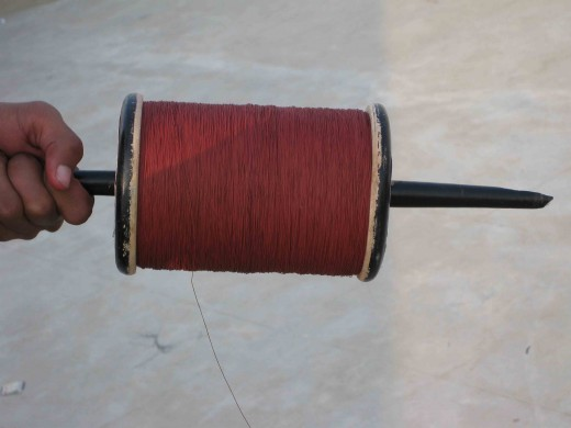 Charkhi or Latai, a wheel to bind threads