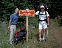 Bill, left, and Jondolar, right, are fresh and clean at the start of the trek.