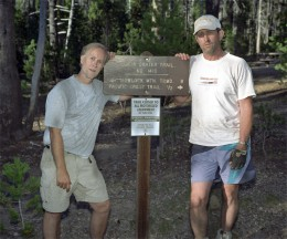Bill and Jondolar at trail's end looking well worn out.