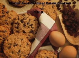 These are truly the worlds best oatmeal raisin cookies. If you grew up eating oatmeal raisin cookies you will love these.