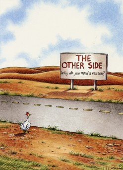 Gary Larson knew the answer!