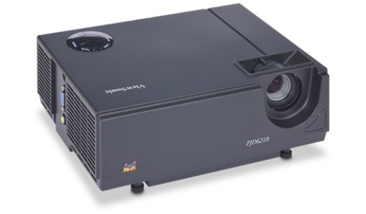 The ViewSonic PJD6210-3D projector