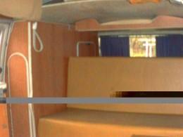 Interior of camper