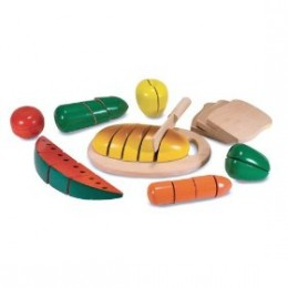 Melissa & Doug wooden cutting food box