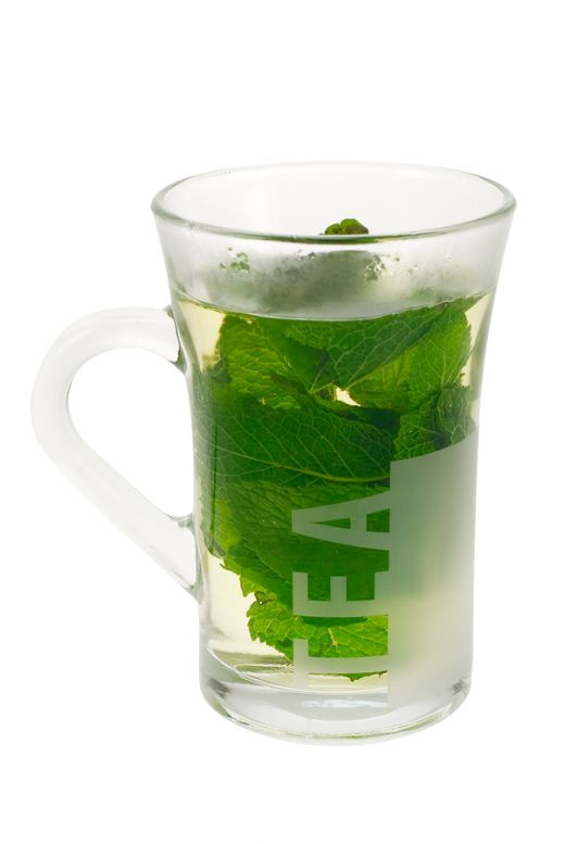 Delicious...cold mint tea!