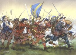 Scottish troops were known for their valor and family loyalty