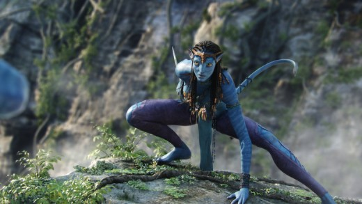 Neytiri is princess of the Na'vi and is also is a nice piece of tail.